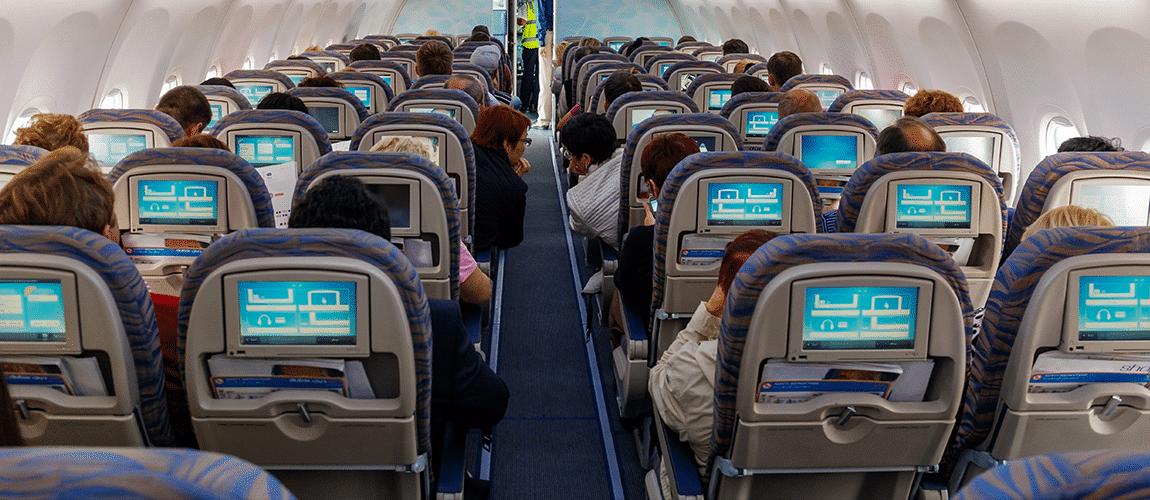 Cabine d'un avion de ligne
