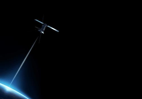 satellite communiquant avec la terre