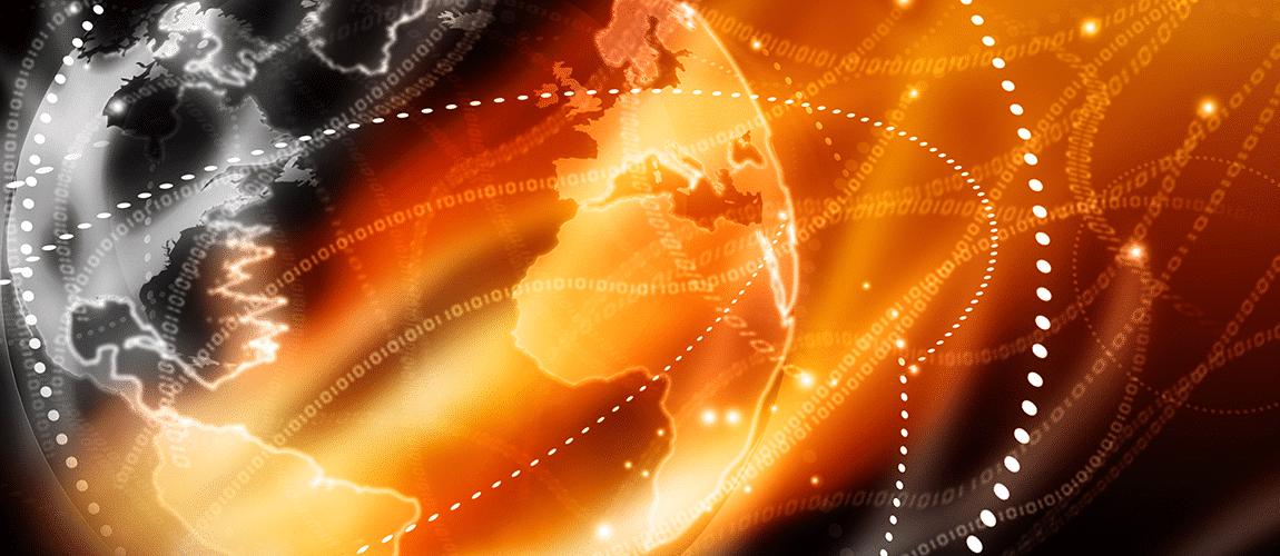 faisceaux de réseaux optiques autour de la planète