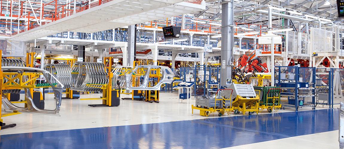 machines connectées dans une usine