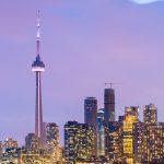 Ville de Toronto illuminée