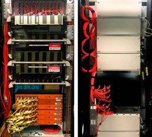 Distribution cabinets combining multimode fibers and installed AROONA-STAR to improve the bandwidth of existing OM1 fibers.