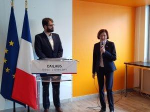 Florence Parly annonce la réussite de la levée de fonds de 8 millions d'euros réalisée par Cailabs