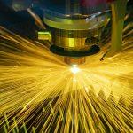 The Fiber Laser Cutting Machine Cutting The Metal